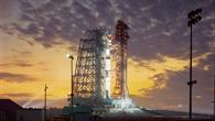 Erster bemannter Start mit der Saturn%2dV%2dTrägerrakete