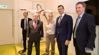 NRW%2dInnenminister Reul am UAV aus Projekt Live%2dLage der Feuerwehr Duisburg