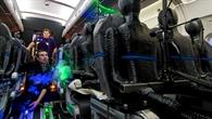 Laser macht die Luftströmung sichtbar