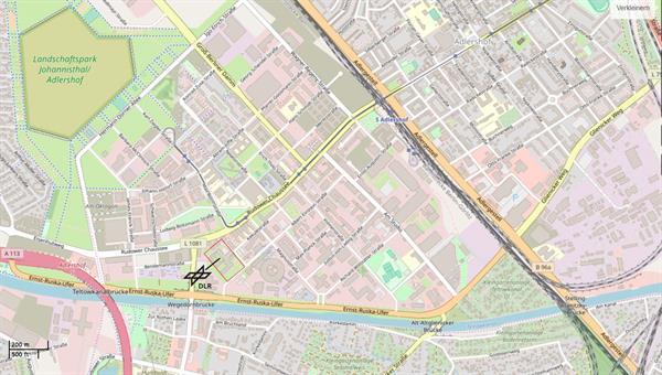 DLR%2dStandort Berlin%2dAdlershof © OpenStreetMap%2dMitwirkende
