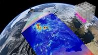 Grafik von Satellit und Datenwürfel