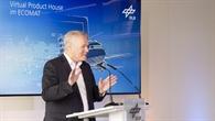 DLR%2dLuftfahrtvorstand Prof. Rolf Henke bei seiner Rede im ECOMAT