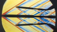 Schlierenbild eines Trennvorgangs eines 4%2dfach Boosters bei Mach 1,8