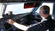 Testpilot im Forschungsflugzeug