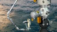 Künstlerische Darstellung des Europäischen Roboterarms (ERA) auf der ISS