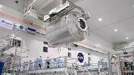 Das Columbus%2dLabor während der Vorbereitung zur Mission STS%2d122