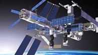 ATV angedockt am russischen Stationsmodul Swesda