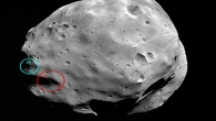 Planned landing site of the Russian Phobos%2dGrunt mission