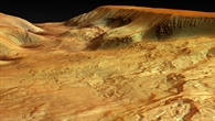 Ophir Chasma, a northern parallel valley of the Valles Marineris