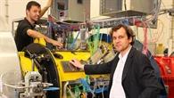 Prof. Ingo Röhle im Turbinenprüfstand