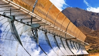 Parabolrinnenanlage auf der Plataforma Solar de Almería