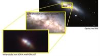 """Infrarot%2dAufnahme der Galaxie M82 des """"First light""""%2dFlugs von SOFIA"""