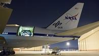 Das in Deutschland gebaute 2,7 Meter%2dInfrarotteleskop im Rumpf der Boeing 747SP