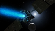 If only rocketry pioneers Wernher von Braun and Sergei Korolev had lived to see this! The NASA Dawn mission reached its target not with a conventional rocket engine, but with a propulsion system that slowly but constantly accelerated the probe using a concentrated jet of ionised inert gas (xenon). Credit: NASA/JPL%2dCaltech