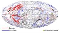 Tektonische Karte des Mars
