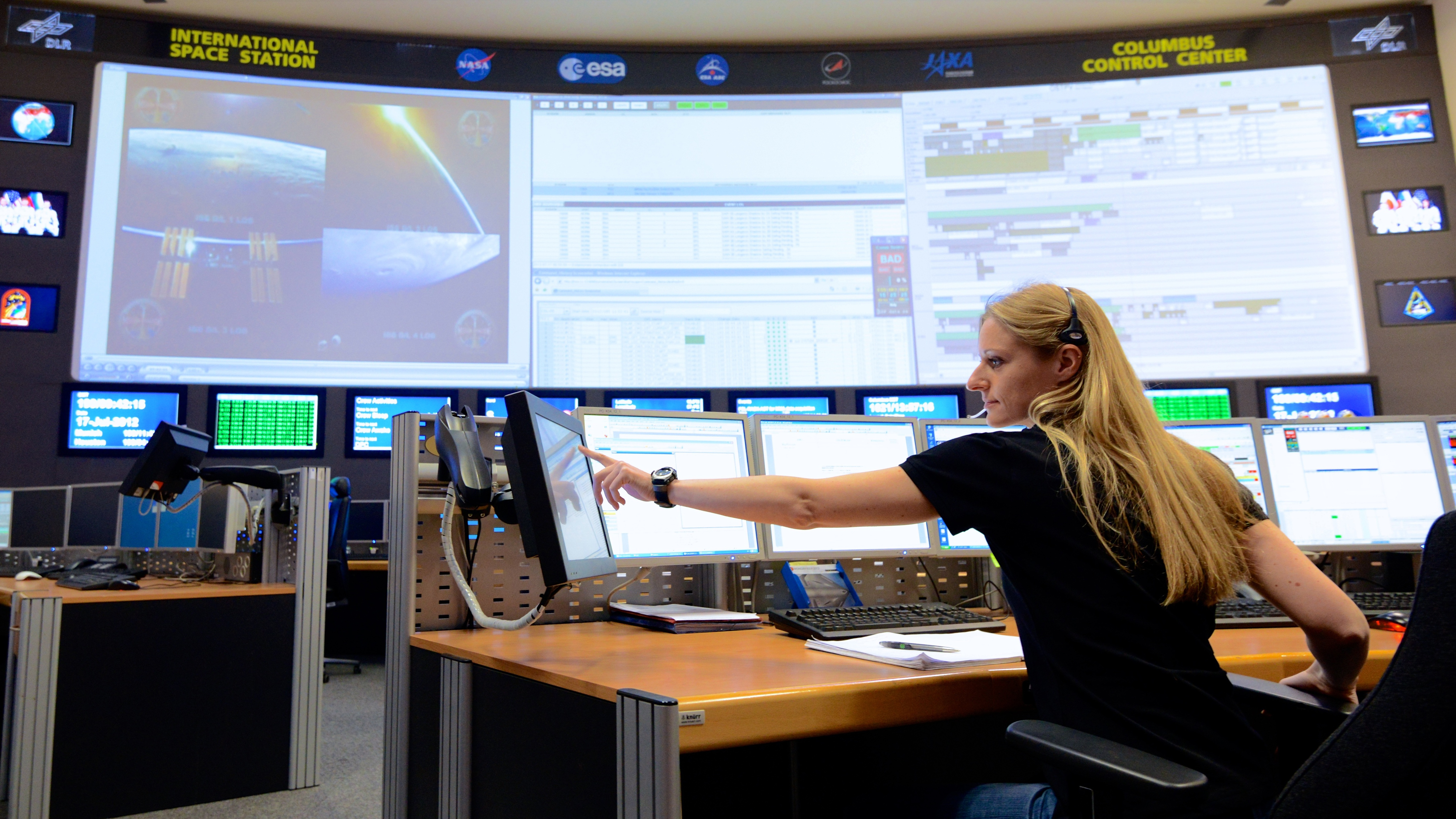 Columbus Control Center Europe S Link To The Iss