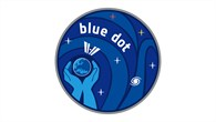 "Logo der Mission ""Blue Dot %2d Shaping the future"""