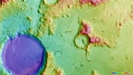 Topographic map of a part of Charitum Montes (HRSC terrain data)