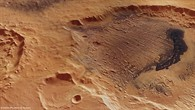 Perspective view of Danielson Crater