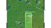 Topographische Übersichtskarte der Region Arabia Terra
