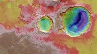 Topographic HRSC colour map of the Danielson and Kalocsa craters