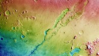 Dao and Niger Valles – colour%2dcoded elevation model
