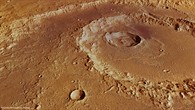 Perspective view of Hadley Crater from the northeast
