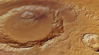 Perspective view of Hadley Crater from the northwest