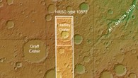 Topographische Übersichtskarte der Umgebung des Hadley%2dKraters