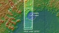 Topographische Übersichtskarte der Umgebung des Hooke%2dKraters