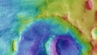 Topographic map of the Hooke Crater (HRSC terrain data)