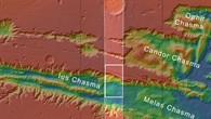 Topographische Übersichtskarte: Westteil der Valles Marineris