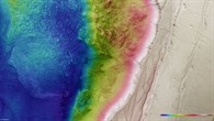 Topographic map of a section of Ius Chasma