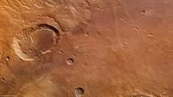 Senkrechte Farb%2dDraufsicht der nördlichen Ausläufer von Ladon Valles
