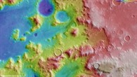 Topographic map of a part of Nereidum Montes (HRSC terrain data)