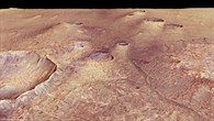 View from the Martian highlands across a volcanic plain in the eastern part of Syrtis Major