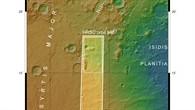 Topographische Übersichtskarte des Ostrands von Syrtis Major