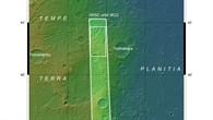 Topographische Übersichtskarte von Tempe Terra