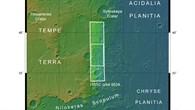 Topographische Übersichtskarte des Westrands von Acidalia Planitia