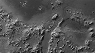 Black%2dand%2dwhite image of the Phlegra Montes region