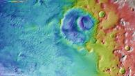 Topographic image of the north of Argyre Planitia