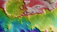 Topographic image map of Hellespontus Montes