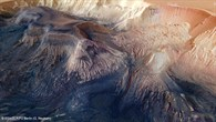 A view into the Hebes Chasma basin from the northwest