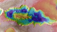Topographical map of Hebes Chasma