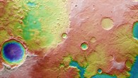 Topographical image map of Tinto Vallis