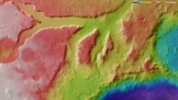Topographic map of Ismeniae Fossae