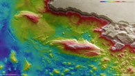 Topographical map of Juventae Chasma