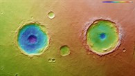 Topographic image map of Arima Crater and its 'twin'