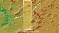 Topographische Übersichtskarte von Reull Vallis