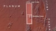 Übersichtskarte über das Grenzgebiet von Claritas Fossae und Daedalia Planum mit dem Krater Mistretta